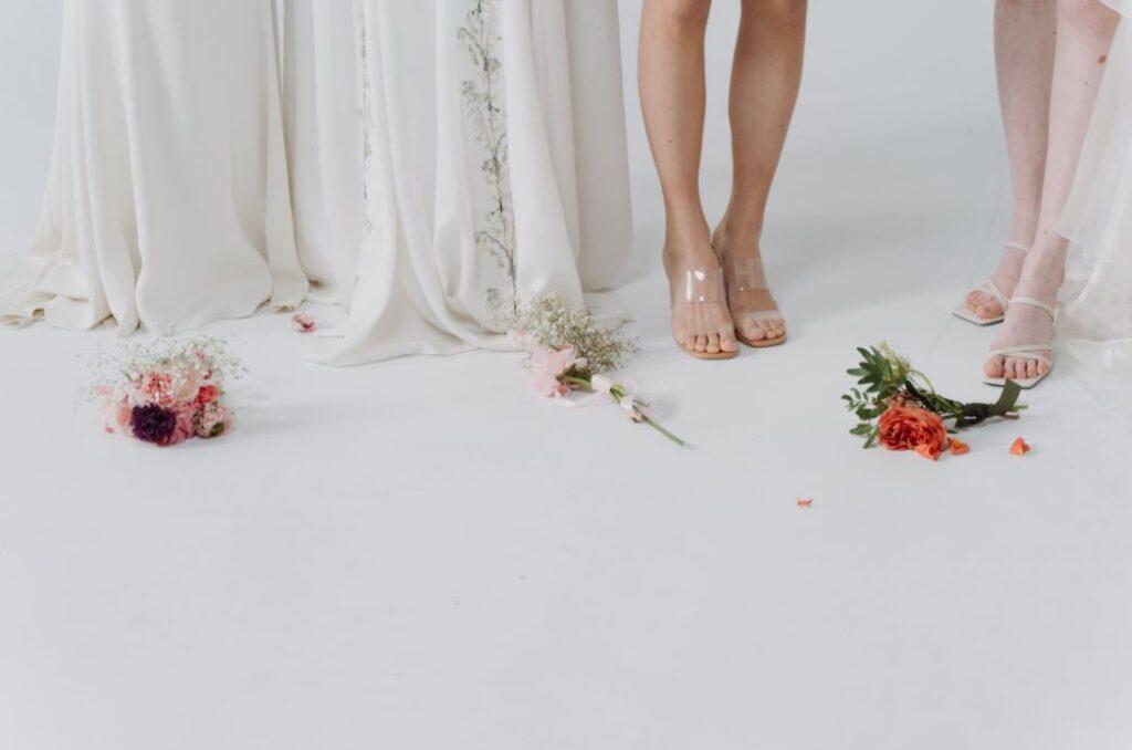 Verschiedene Hochzeitsschuhe sind möglich